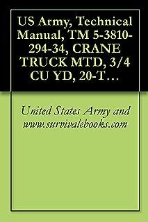 US Army, Technical Manual, TM 5-3810-294-34, CRANE TRUCK MTD, 3/4 CU YD, 20-TON W/CLAMSHELL, DRAGLINE AND BACKHOE ATTACHMENTS, GED
