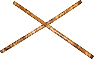 "Pair USA Handmade Escrima Kali Arnis Stick Set Fire Hardened Burned Rattan 28"" -WF1528A"