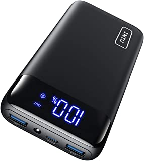 INIU Portable Charger, 20W PD3.0 QC4.0 Fast Charging LED Display 20000mAh Power Bank, Tri-Outputs Battery Pack Compatible ...