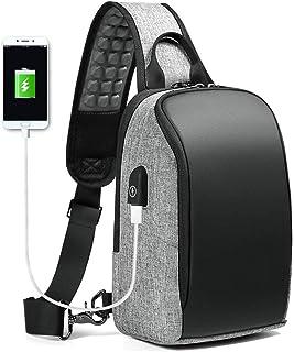 Adesign Sac à bandoulière léger avec port de chargement USB pour homme et femme