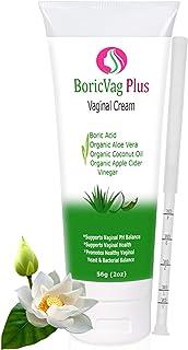 Boric Acid Vaginal Cream with Organic Aloe Vera, Organic Coconut Oil & Organic Apple Cider Vinegar - Applicator Included