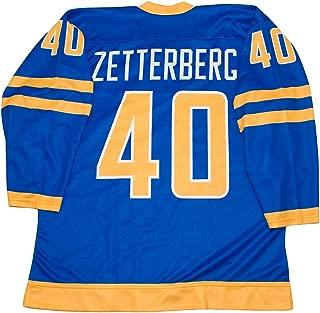 Team Sweden Henrik Zetterberg Blue Hockey Jersey