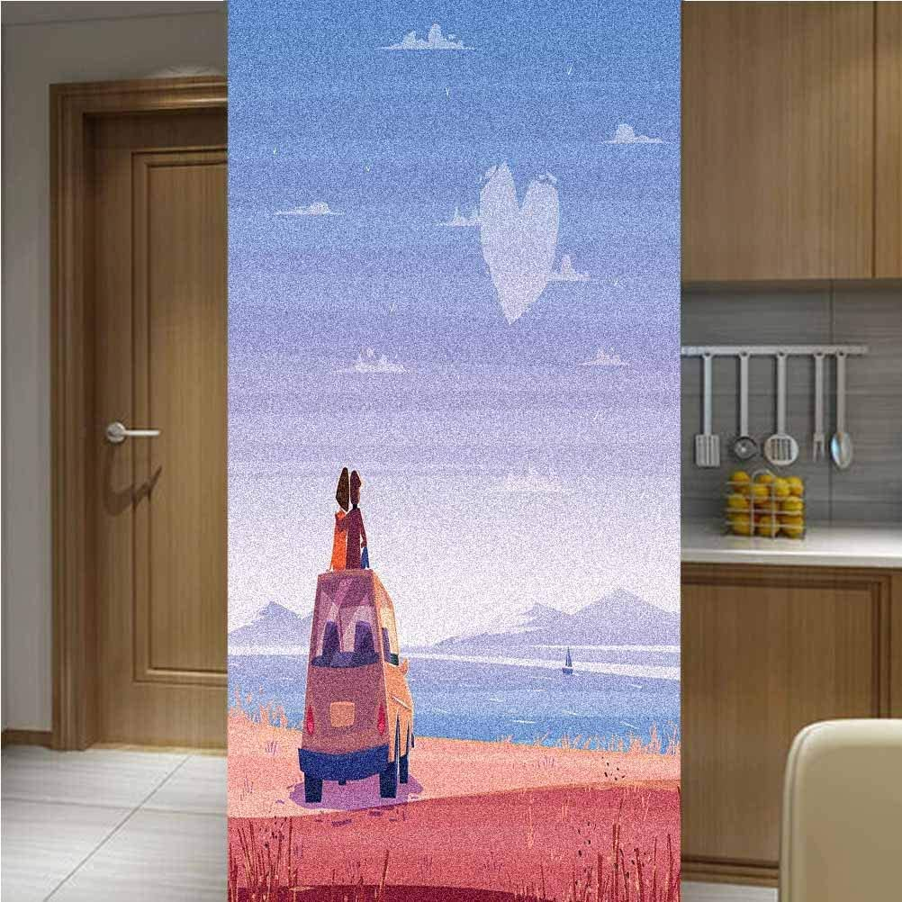 Romantic Privacy Window Film Non-Adhesive 4 One Piece Glass Bombing new Attention brand work