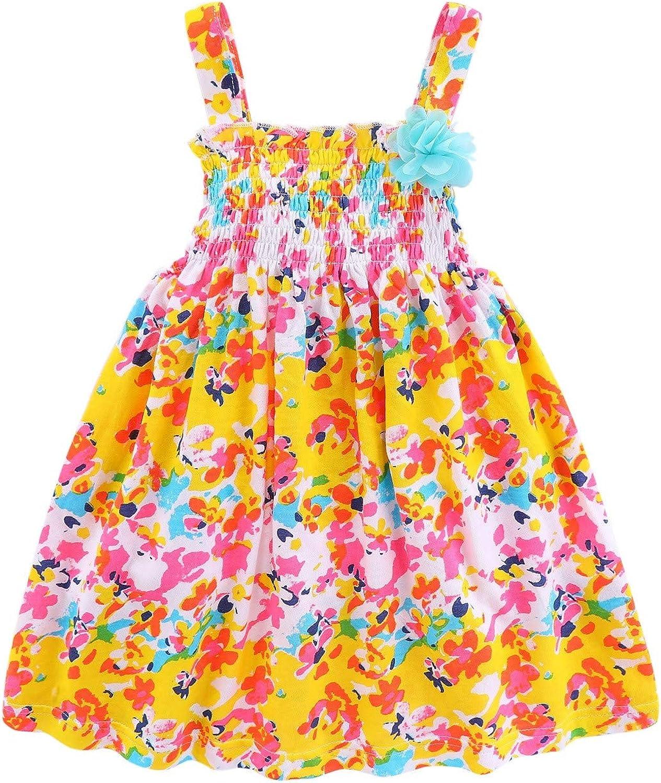 Mud Kingdom Baby Girl Clothes Summer Floral Slip Dresses