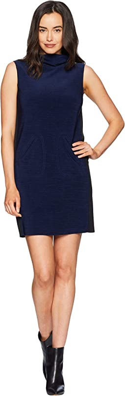 Sleeveless Mock Neck Sheath Dress