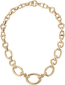 18K Graduated Oval Link Necklace