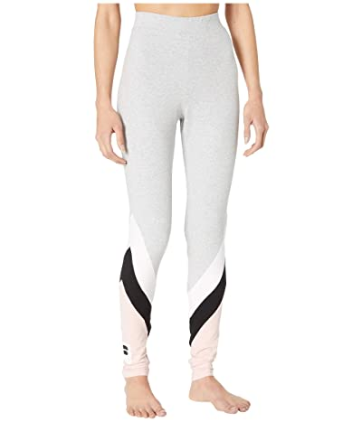 Fila Inaya High-Rise Leggings (Light Grey Marl/Peachskin/White/Black) Women