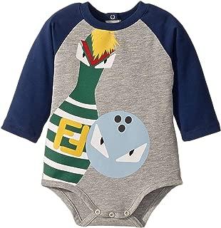 Fendi Kids Mens Long Sleeve Bowling Graphic Bodysuit (Infant)