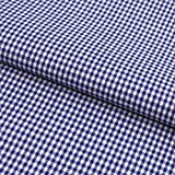 Hans-Textil-Shop Stoff Meterware Vichy Karo 2x2 mm Blau