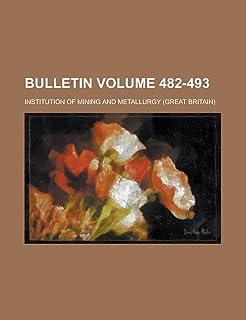 Bulletin Volume 482-493