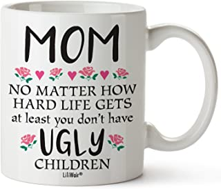 Mothers Day Gifts For Mom Gift Funny Birthday Coffee Cup Mugs From Daughter Son Mother's Day Mug Presents in Law Step Moms Best Funny Unique Sarcastic Present Ideas Stepmom Aunt Wife Friend Tea Cups