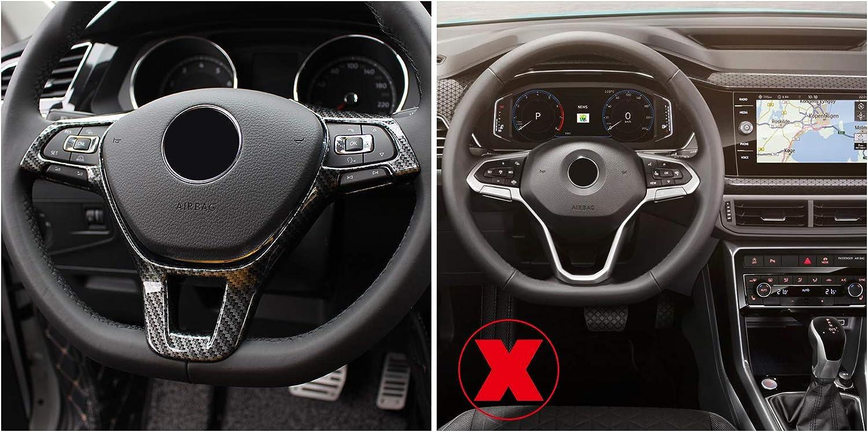 High Flying Steering Wheel Carbon Fibre Colour For Polo Vi 6 2018 2019 2020 Passat B8 T Roc Tiguan 2 Golf 7 Mk7 T Cross Not For R Line Auto