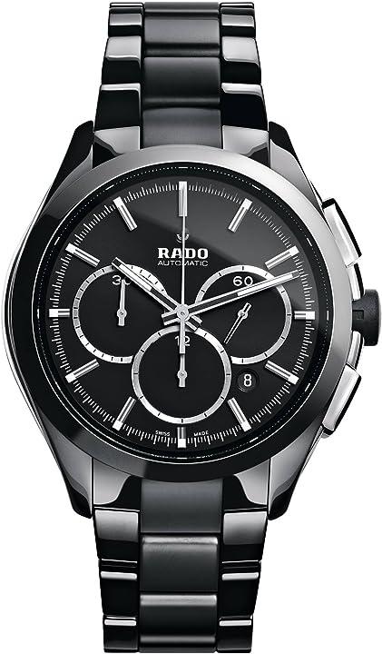 Orologio rado analogico-digitale cronometro uomo con cinturino in ceramica 650.0275.3.015