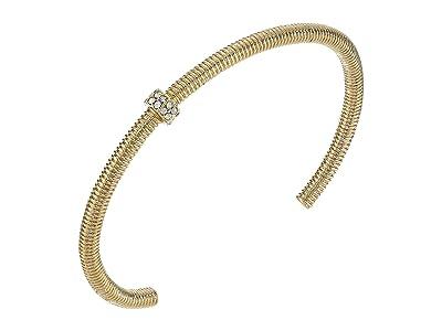 AllSaints Textured Bolt Cuff Bracelet (Crystal/Gold) Bracelet