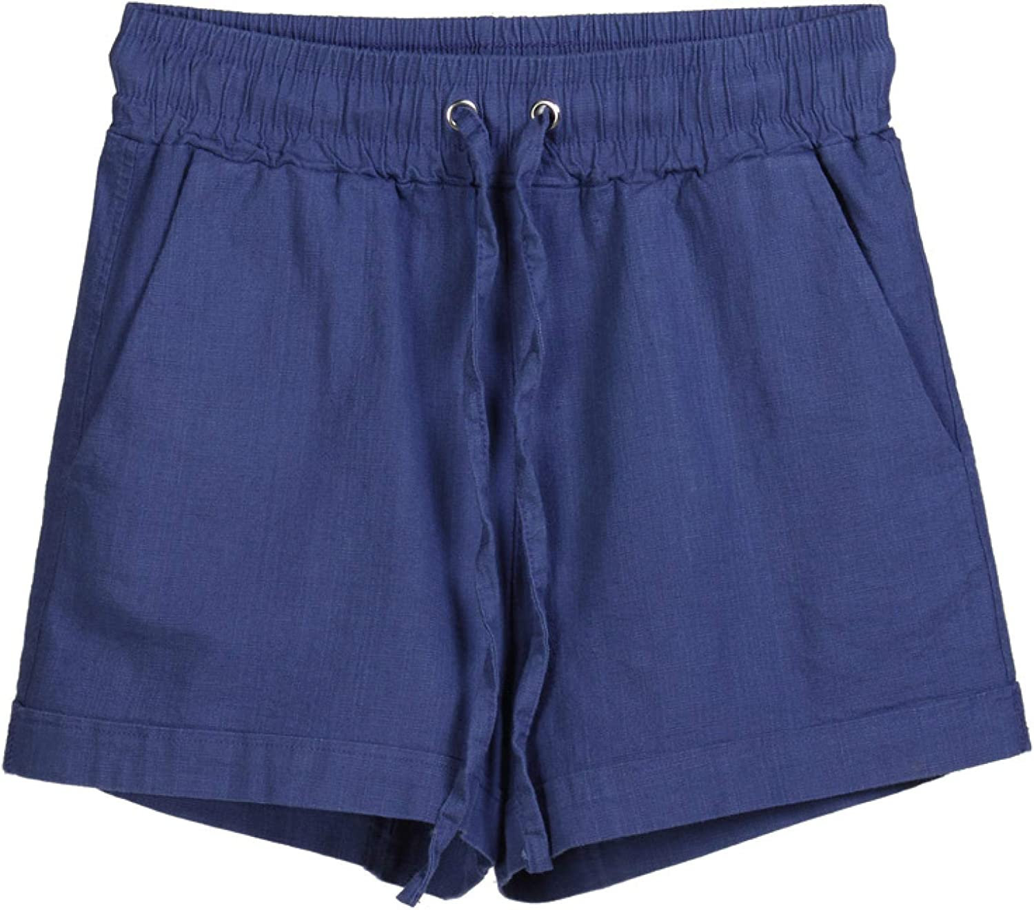 Zestion Women's Loose Casual Comfortable Stretch Shorts Summer Solid Color Adjustable