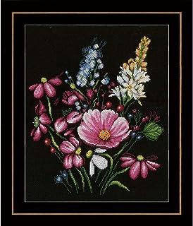 dise/ño de rosas Magic Needle 150-001 multicolor Kit de punto de cruz algod/ón, 11 x 11 cm