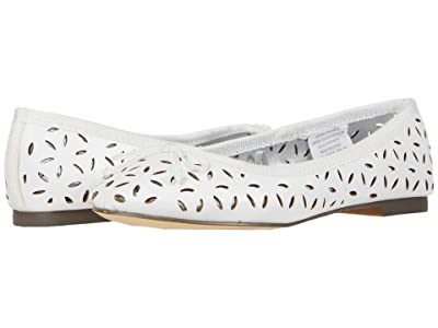 crewcuts by J.Crew Eyelet Classic Ballet Flat (Toddler/Little Kid/Big Kid) (White) Girl