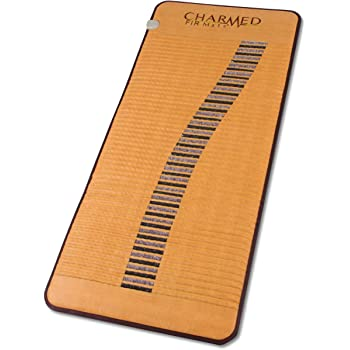 """Charmed Far Infrared Professional Size Mat 26 1/2"""" X 71"""" - 110 Volt Amethyst & Tourmaline Crystal Radiant Heat Therapy"""