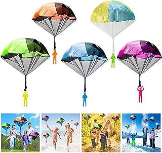 Wokkol Parachute pour Enfants, 12 Pièces Main Lancer Parachute Set, Jeux de vol de Plein air pour Les Enfants, Peuvent êtr...