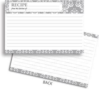 Home Advantage 4x6 Recipe Cards Double Sided, 50 Card Vintage Design Set, Thick Card Stock