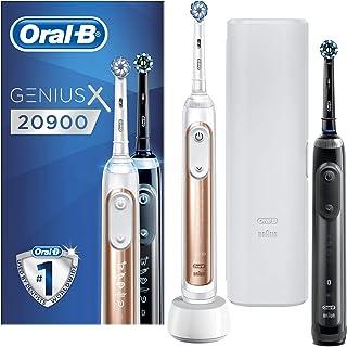Oral-B Genius X -20900- Oplaadbare Elektrische Tandenborstel Powered By Braun, Duoverpakking Handvatten Met Artificiële In...