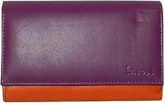 Laveri Orange Leather For Women - Trifold Wallets