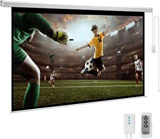 YODOLLA 100inch Motorized Projection Screen, 16:9 4K 3D HD Electric Projector Screen, Wall/Ceiling Mounted White Projectio...