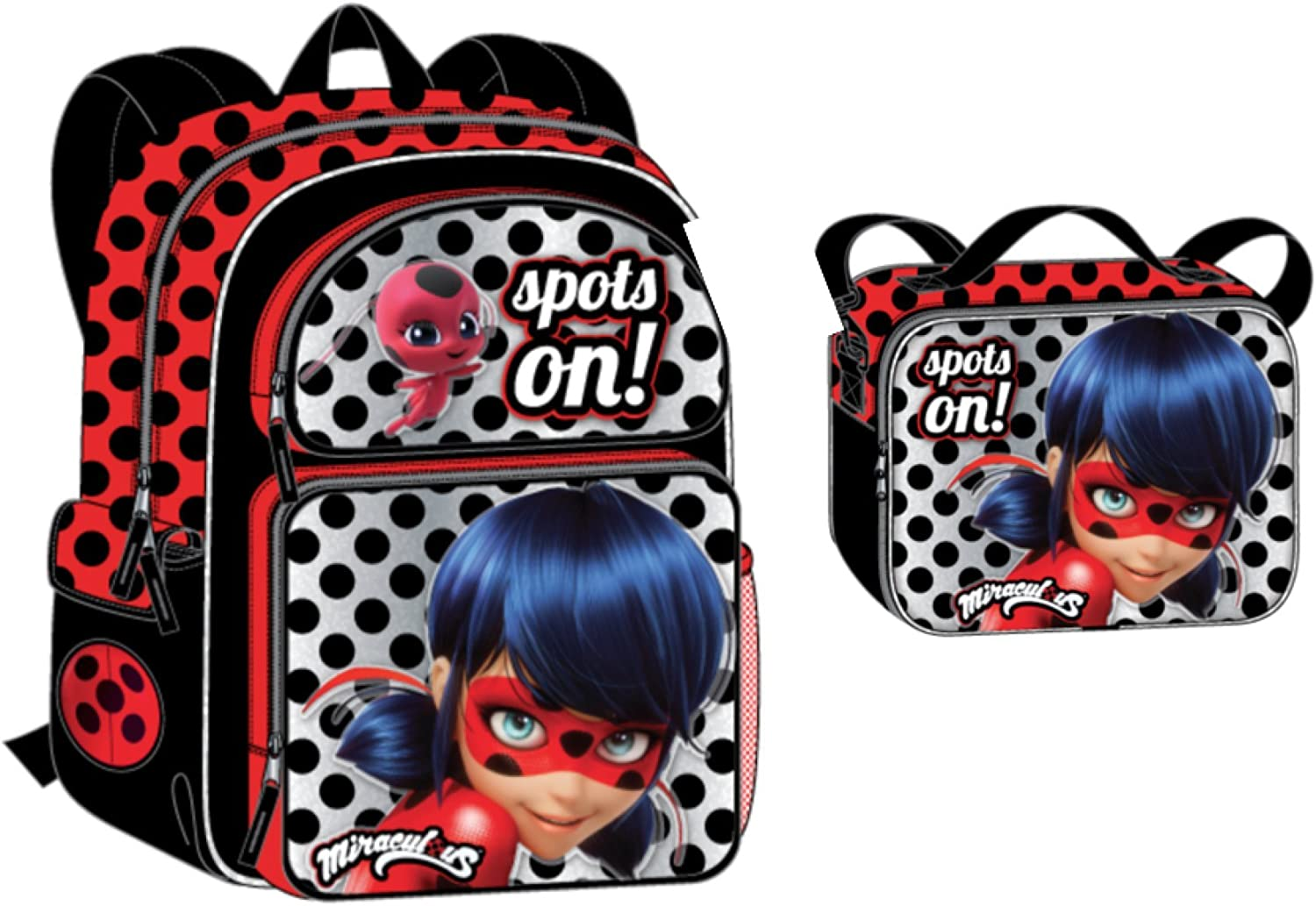 Nickelodeon Miraculous Lady Bug Backpack + Lunch Bag