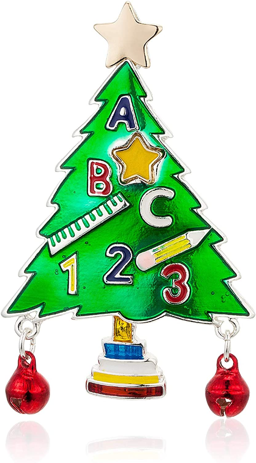 Christmas Tree Brooch Pin Cute Brooches ABC for online shop Party 123 Pins C Direct sale of manufacturer