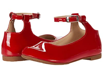 Elephantito Celina Flats (Toddler/Little Kid/Big Kid) (Patent Red) Girl