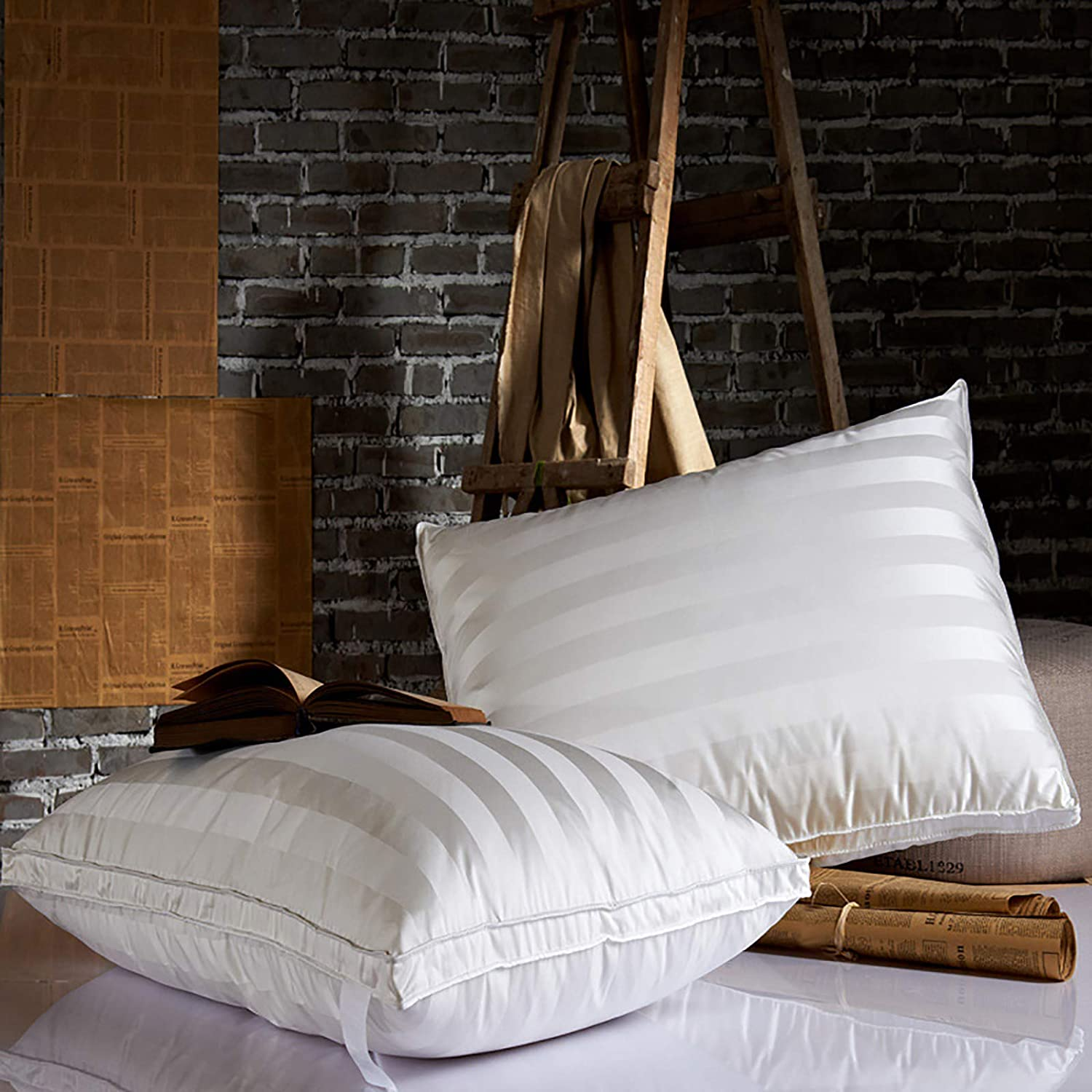 Don't miss the campaign ZJING Goose Down Sleep Pillow Soft Indoor Luxurious Memphis Mall Bed