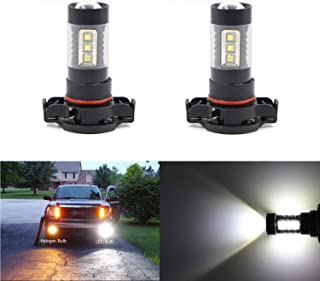 Dantoo 2 x 5202 5201 PS19W LED Fog Light Bulbs Extremely Bright 6000K 16 SMD LED Bulbs Fog Light Lamp Replacement for DRL or Fog Lights, Xenon White