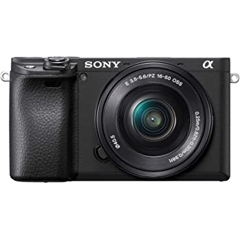Sony Alpha ILCE-6400L 24.2MP Mirrorless Camera (Black) with 16-50mm Power Zoom Lens (APS-C Sensor, Real-Time Eye Auto Focus, 4K Vlogging Camera, Tiltable LCD) - Black