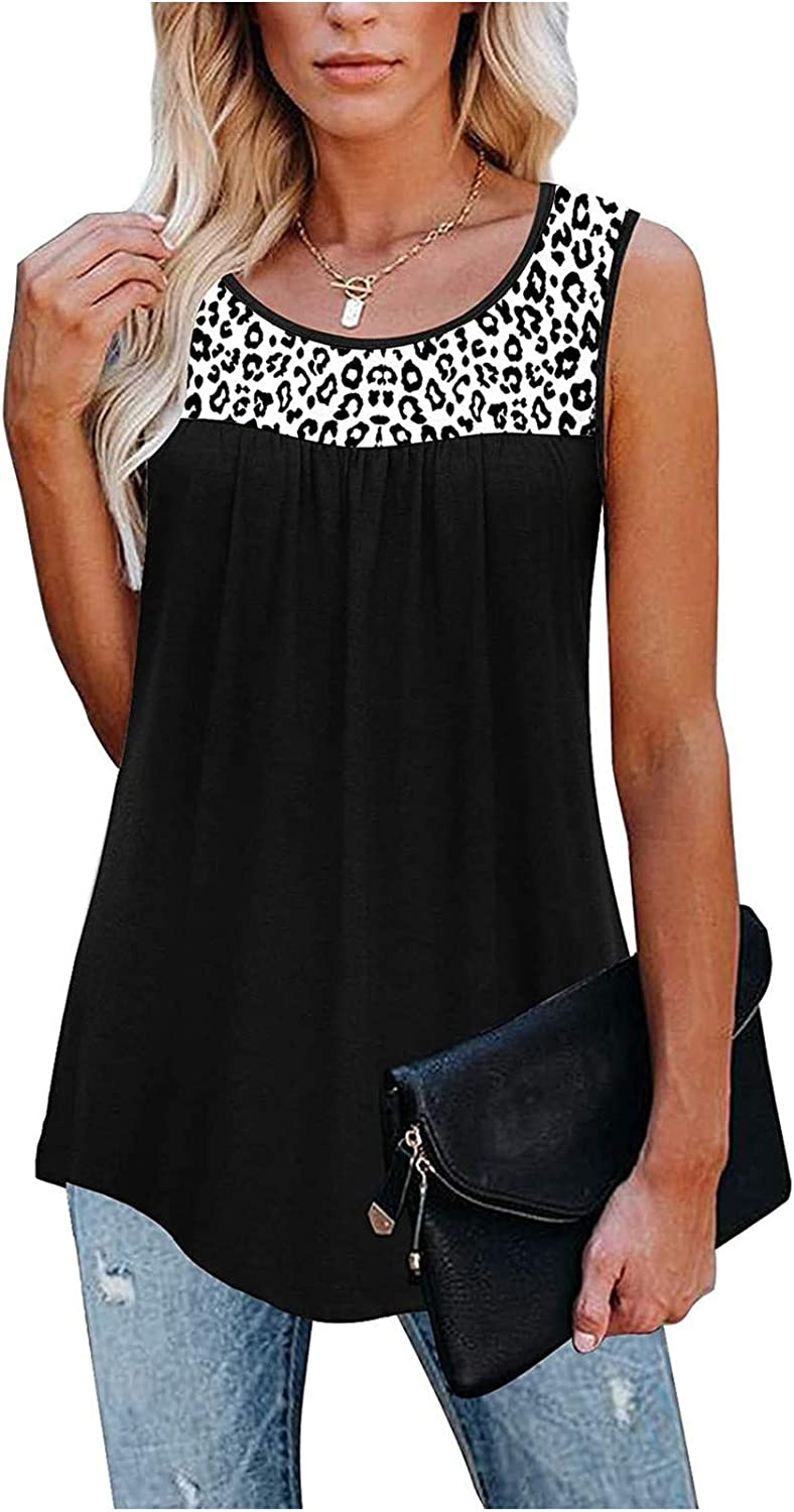 Tank Tops for Women Casual, Womens Sleeveless Lace Active Tank Tops Ruffle Loose Tunic Blouse Shirt Vest Tops