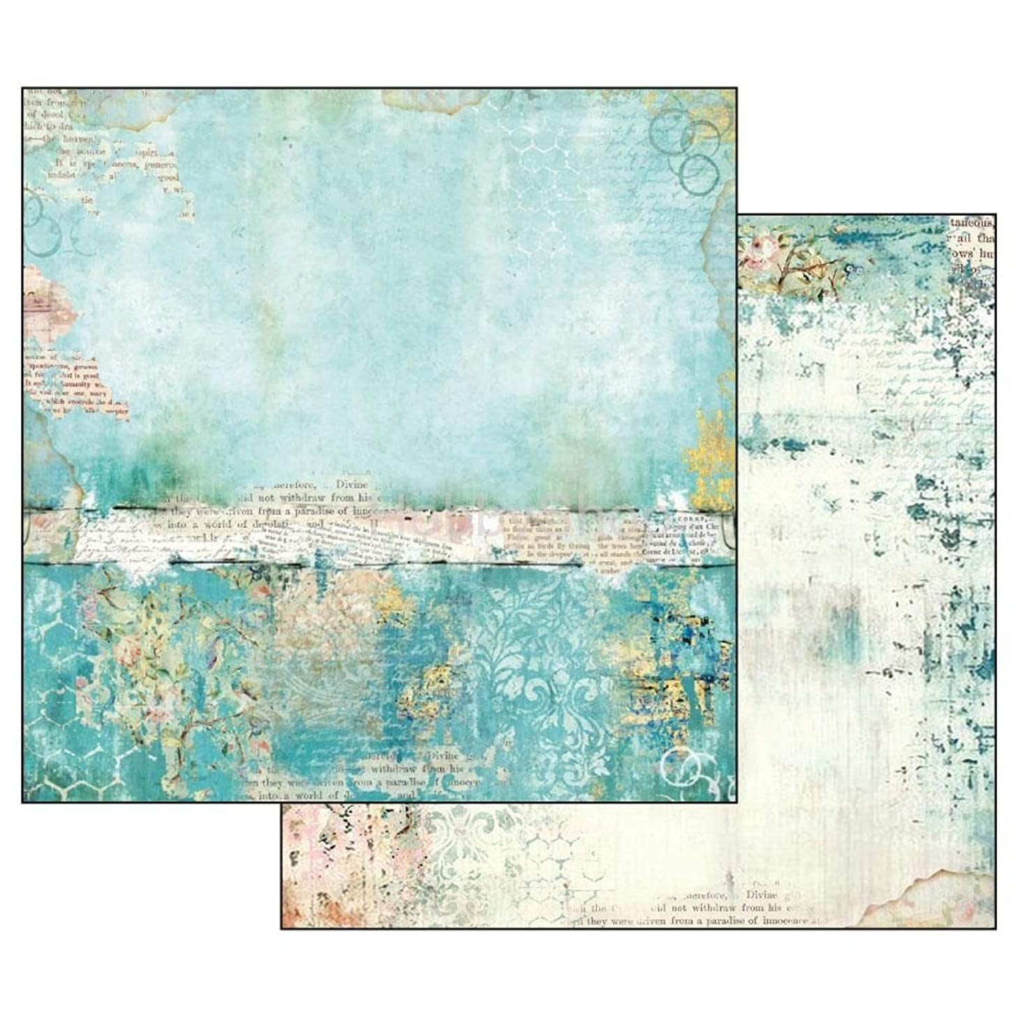 Stamperia Intl SBB534 Stamperia Double-Sided Cardstock Wonderland Texture Blue
