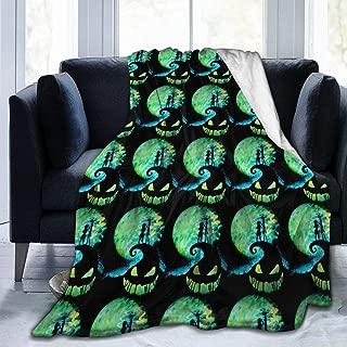 Nightmare Before Christmas Throw Blanket Super Soft Cozy Warm Micro Fleece Anti-Pilling Flannel Blanket,50