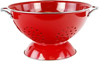 Calypso Basics by Reston Lloyd Powder Coated Enameled Colander, 5 Quart, Red