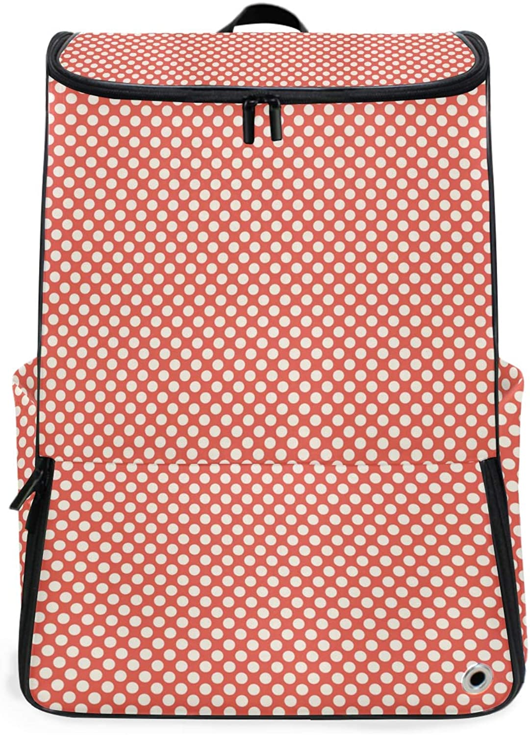 Backpack Rucksack Travel Daypack Polka Dots Simple Pattern Book Bag Casual Travel Waterproof