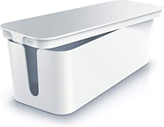 Beasrware - Caja para Cables - Organizador para Cables -Caja para Cables -Caja para esconder Cables -Organizador para regletas de enchufes - Caja para Cargadores de teléfonos móviles