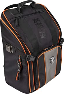 کوله پشتی کیسه ابزار Klein Tools 55482 ، سازمان دهنده ابزار Heavy Duty Tradesman Pro با 21 جیب و فضای داخلی بزرگ ، ضد آب