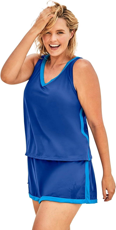 Swimsuits For All Women's Plus Size 2-Piece Swim Skirtini Set