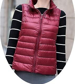 Show-Show-Fashion outerwear-coats Women Ultra Light Sleeveless Down Jackets Thin Winter Vest Plus Size S-3XL