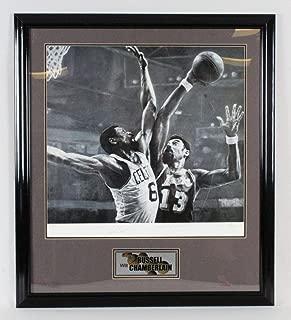 Wilt Chamberlain & Bill Russell Signed Litho - COA - JSA Certified - Autographed NBA Art