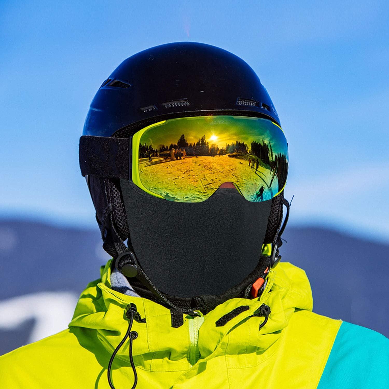 TAGVO Passamontagna da Sci Invernale Caldo di Spessore Vello Caldo Passamontagna Maschera da Sci Motociclo Ciclismo Snowboard Bici Scaldacollo Taglia Universale Balaclava