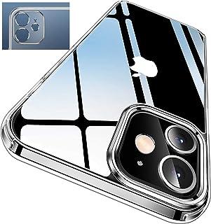 Le Petit Français® - Carcasa para iPhone 12 trasera transparente, antigolpes, silicona + protección contra arañazos, carca...
