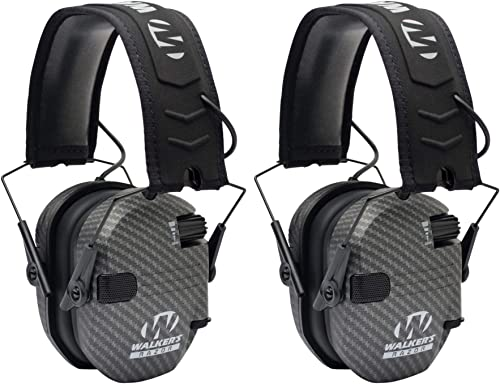 Walkers Razor Slim Electronic Shooting Muffs 2 Pack Bundle Carbon Gray 2 Items
