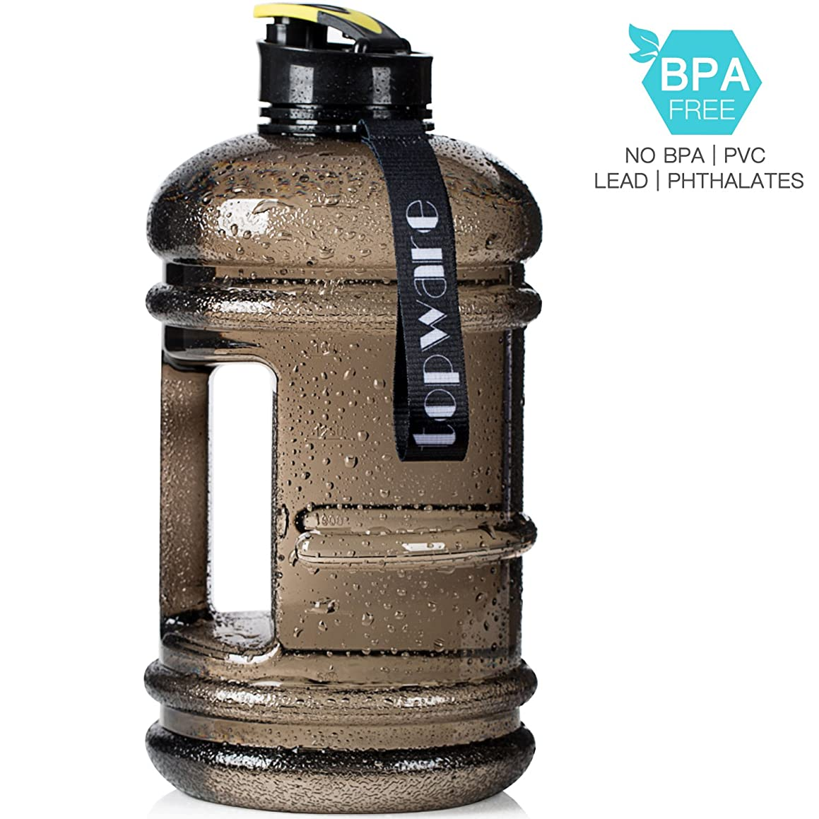 Dishwasher Safe New Material Tritan Plastic Hot Cold Water Jug Container Big Capacity 2.2L 75oz Half Gallon 1.3L 44oz 550ml Large Leakproof BPA Free Water Bottle for Fitness Camping Bicycle Gym