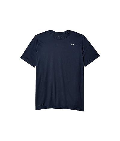 Nike Big Tall Legend 2.0 Short Sleeve Tee (Obsidian Heather/Matte Silver) Men