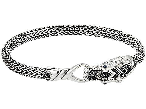 John Hardy Legends Naga 5 mm. Bracelet with Black Sapphire