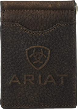 Debossed Ariat Logo Money Clip
